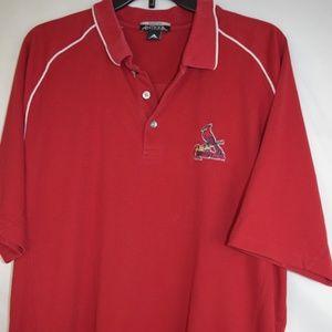 St Louis Cardinals SS Polo Shirt Sz XL